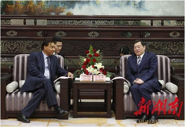 Du Jiahao Meets Chairman Lakshmi Mittal of ArcelorMittal