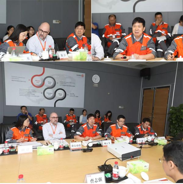 华菱集团董事长曹志强深入VAMA一线调研指导汽车板销研产